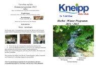 St. Veit/Glan Herbst –Winter Programm 2011 / 2012 - Kneippbund