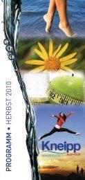 PR OGRAMM • HERBS T 2010 - Kneippbund