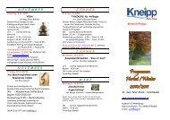Programm Herbst/Winter 2010/2011 - Kneippbund