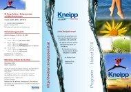 Programm · Herbst 2010 - Kneippbund