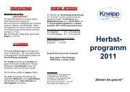 Herbst- programm 2011 - Kneippbund