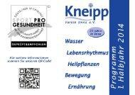 Programm 1. Halbjahr 2014 zum download (pdf) - Kneipp-Verein ...