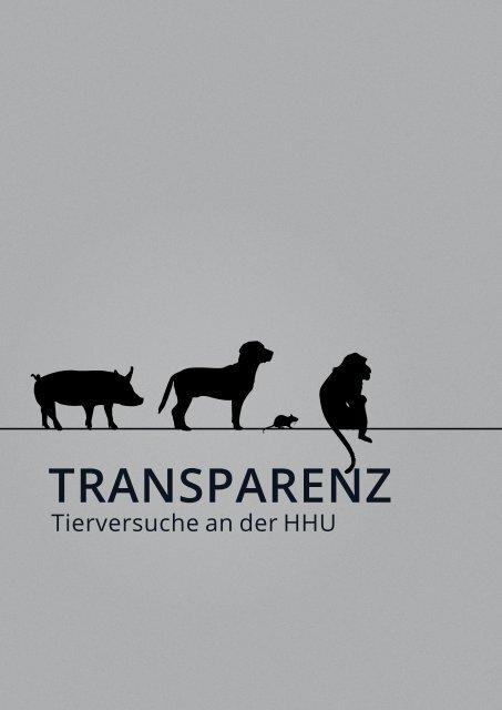 Transparenz  – Tierversuche an der HHU