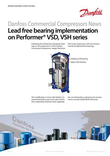 Danfoss Commercial Compressors News Lead free bearing ...