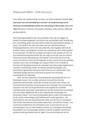 Een stad waar men zich - Koninklijk Nederlands Historisch ...