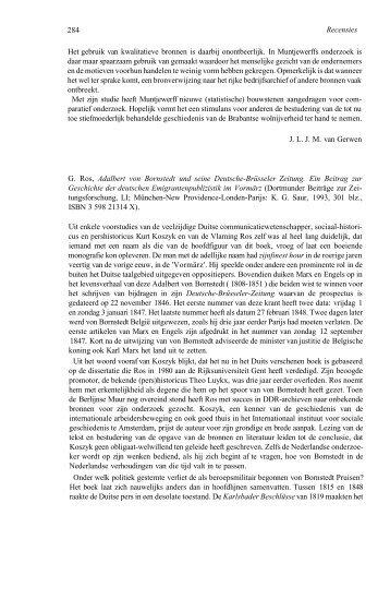 Adalbart von Bornstadt und seine Deutsche-Brüsselere Zeitung. Ein ...