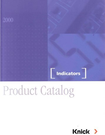 Indicators Product Catalog (2.01 MB) - Knick Elektronische ...
