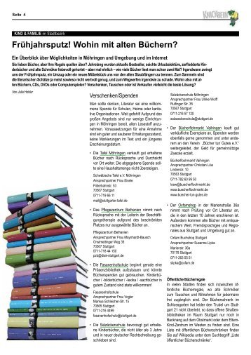 Wohin Mit Alten Büchern 60 free magazines from knickbein de