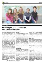 KCG: Fünft-Klässler berichten - Knickbein
