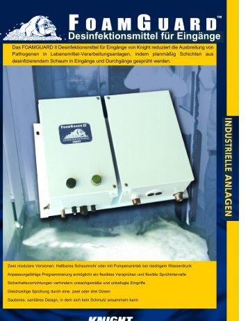 FoamGuard II™ Desinfektionsmittel für Eingänge - knight llc