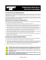 PRESSURE SWITCH KIT INSTRUCTION SHEET - Knighteurope.eu