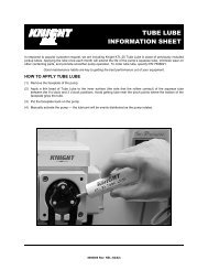 TUBE LUBE INFORMATION SHEET - Knighteurope.eu
