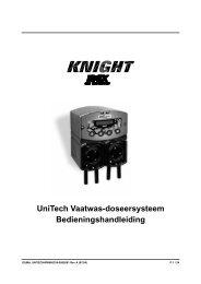 UniTech Vaatwas-doseersysteem ... - Knighteurope.eu