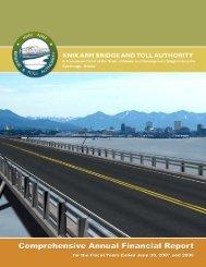 2007 Comprehensive Annual Financial Report - Knik Arm Bridge ...
