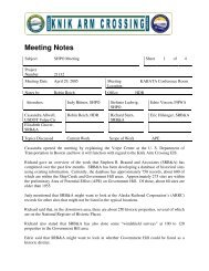 Meeting Notes - Knik Arm Bridge and Toll Authority