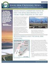 Knik Arm Crossing News - Knik Arm Bridge and Toll Authority
