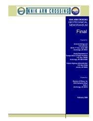 Geotechnical Memorandum - Knik Arm Bridge and Toll Authority
