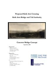 Concrete Bridge Concept - Knik Arm Bridge and Toll Authority