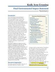 FEIS Summary - Knik Arm Bridge and Toll Authority