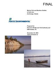 Marine Fish and Benthos Studies - Knik Arm Bridge and Toll Authority