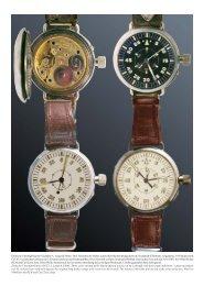 Deutsche Uhrenfabrikation Glashütte A. Lange & Söhne: Drei ...