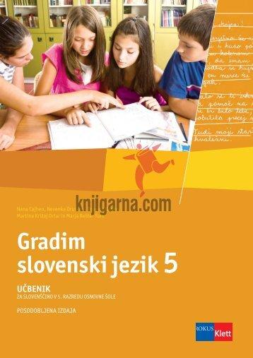 Gradim slovenski jezik - Knjigarna.com
