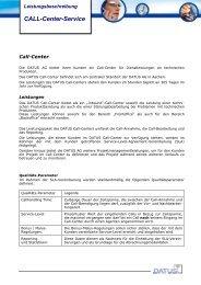 Call-Center-Service - Datus AG