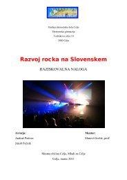 Razvoj rocka na Slovenskem - Osrednja knjižnica Celje