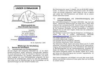 UNSER GYMNASIUM - Albert Einstein Gymnasium