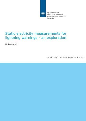 Static electricity measurements for lightning warnings - an ... - Knmi