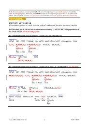 AUTO METAR code (nov 2013) - Knmi