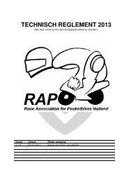 KNMV Wegrace Reglement 2013 (RAP Holland-versie)