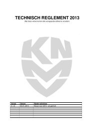 Pocketbike Technisch Reglement 2013 - Knmv