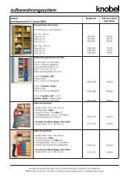 unsere aktuellen Sonderangebote - Knobel Schuleinrichtungen AG