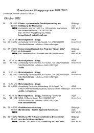 Erwachsenenbildungsprogramm 2012/2013 - Amt für Ernährung ...