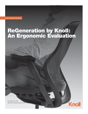 ReGeneration by Knoll: An Ergonomic Evaluation (2.05 MB)