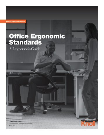Office Ergonomic Standards: A Layperson's Guide (1.65 MB) - Knoll