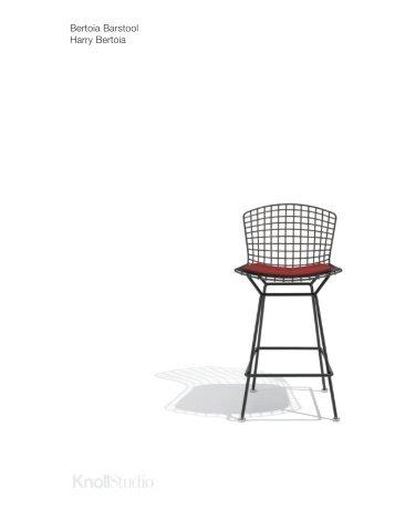 Bertoia Barstool Cutsheet - Knoll