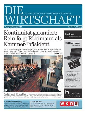 Kontinuitätgarantiert: Reinfolgtriedmannals Kammer-Präsident