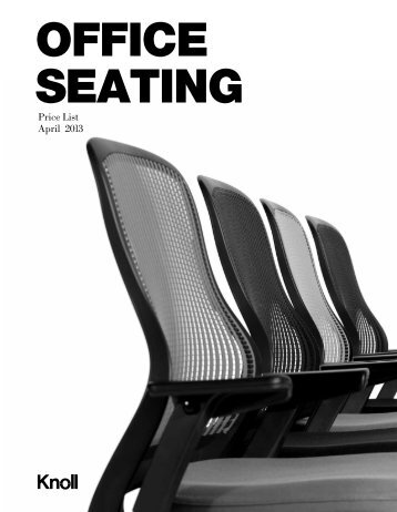 Office Seating Price List - Knoll