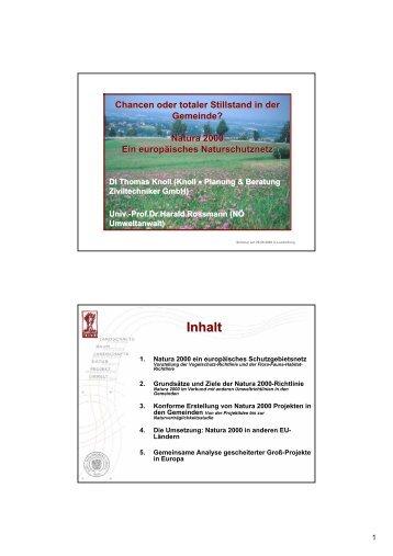 """Knoll T. (2008): Vortrag """"Grundsätze und Ziele der ... - Knollconsult"""