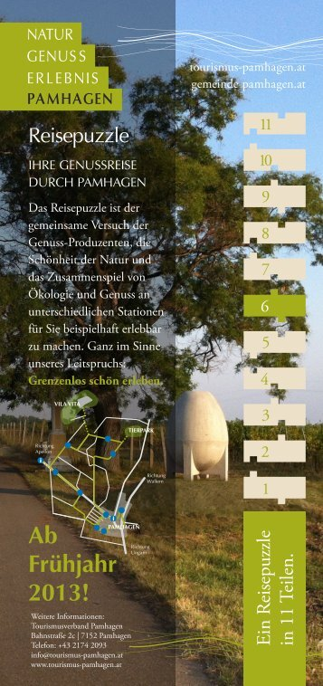 Folder Natur Genuss Erlebnis Pamhagen - Knollconsult
