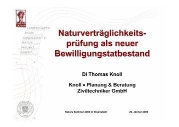 Knoll T (2009): Vortrag - Knollconsult