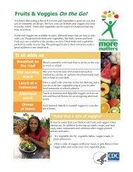 Fruits & Veggies On the Go! - Wellness