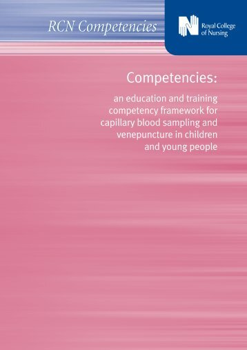 Competencies: an education and training competency framework for ...