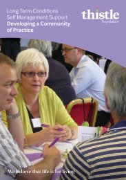 LTC Self Management Support; Developing a Community of Practice