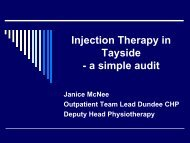 Injection Therapy in Tayside