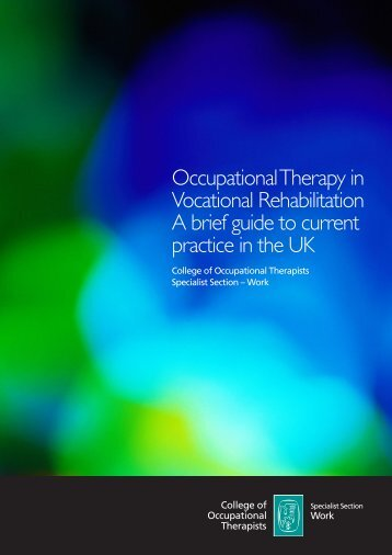 Occupational Therapy in Vocational Rehabilitation A brief guide to ...
