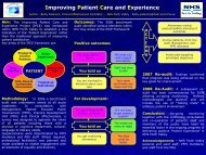 Improving patient care and experience (IPCE) (PDF Poster ...