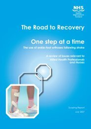 The Road to Recovery One step at a time - The Knowledge Network
